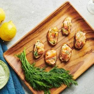 Smoked Salmon Crostini with Herbed Mayonnaise