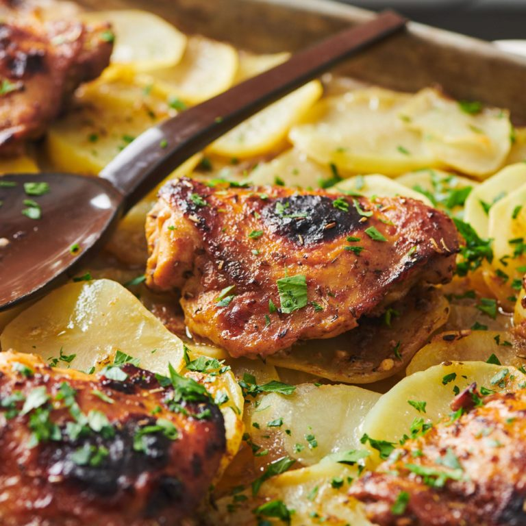 Killer Roasted Marinated Chicken and Potatoes