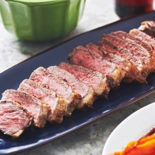 Pepper-Mustard Strip Steaks