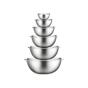 Stainless Steel Mixing Bowls Set, 6 Pieces