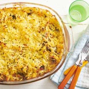 Hashbrown Chicken Vegetable Pot Pie Casserole